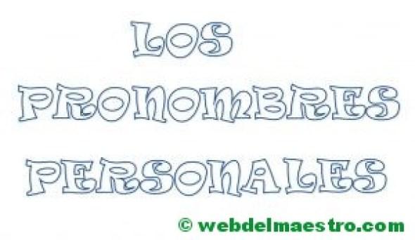 Los pronombres personales- Título para colorear