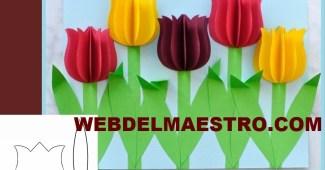 Manualidades-tulipanes de papel