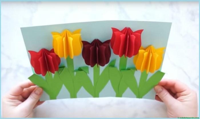 Manualidades Tulipanes De Papel Web Del Maestro