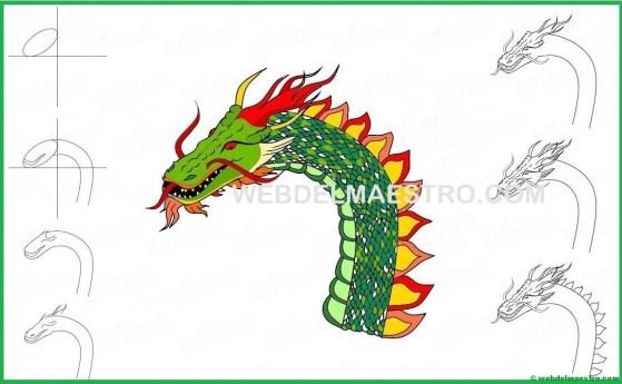aprender a dibujar la cabeza de un dragón-