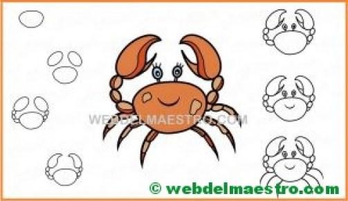 aprender a dibujar un cangrejo-