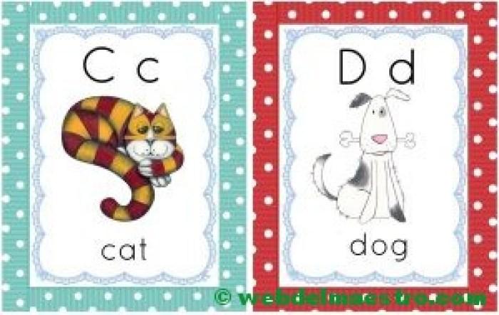 letras c-d