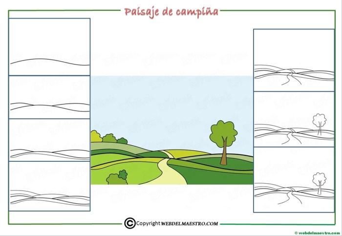 Como dibujar un paisaje para niños-2