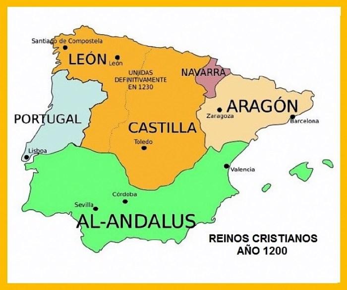 Reinos cristianos en el año 1200-