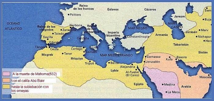 mapa del imperio islámico