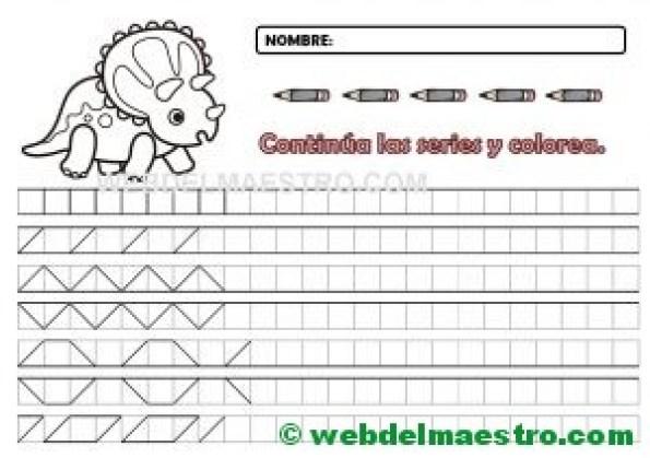 Grafomotricidad-Cenefas en cuadrícula para imprimir-1