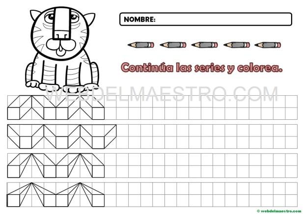 Grafomotricidad cenefas en cuadr cula para imprimir - Cenefas para dibujar ...