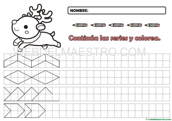 Grafomotricidad-Cenefas en cuadrícula para imprimir-7