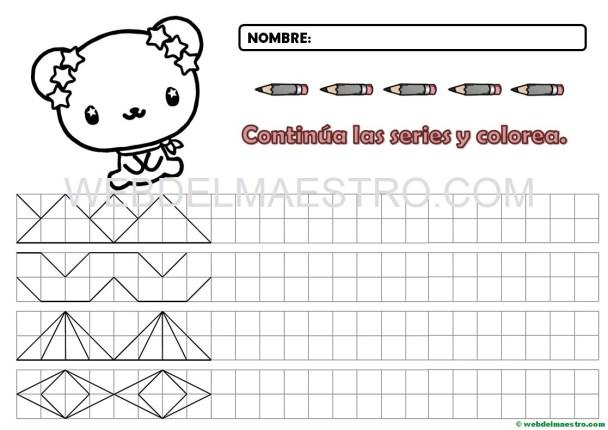 Grafomotricidad-Cenefas en cuadrícula para imprimir-8