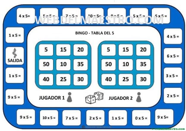 juego de la tabla del 5