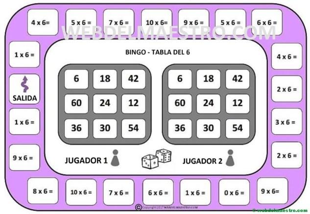 juego de la tabla del 6