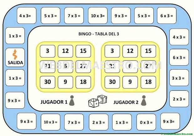 juegos de matematicas-tabla del 3