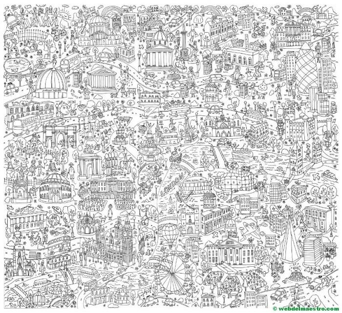 Póster gigante de Londres-PLANTILLA