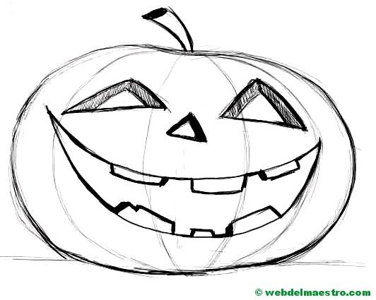 Calabaza de Halloween-2 - Web del maestro