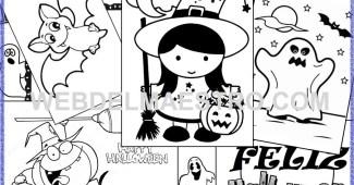 Feliz Halloween - Dibujos Halloween para colorear - Primaria