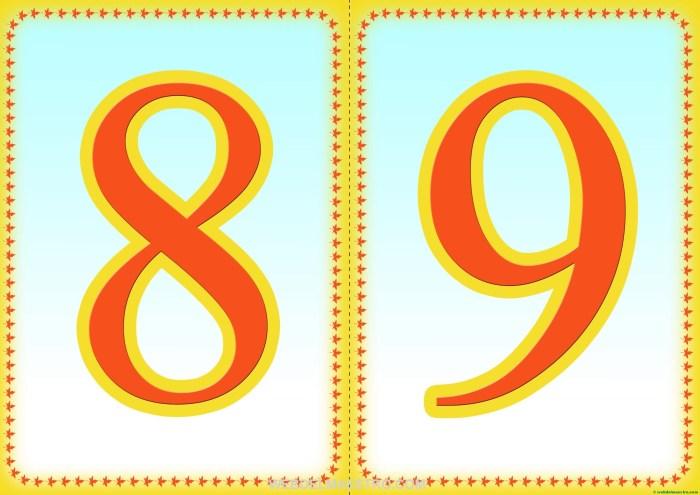 Números 8-9