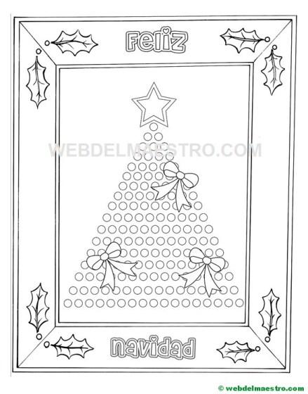 árbol de Navidad para colorear-II