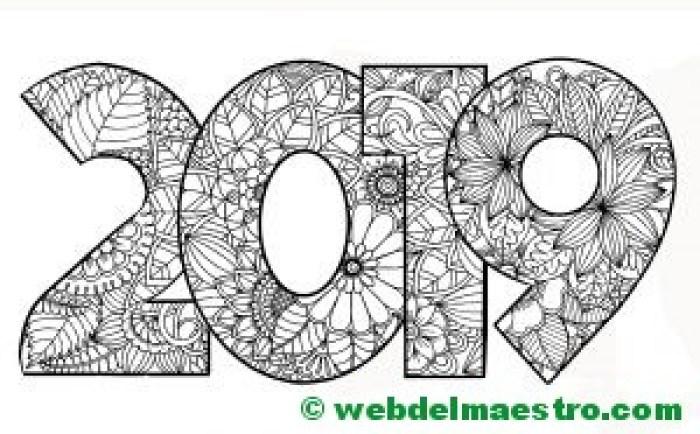 Dibujo de 2019 para colorear