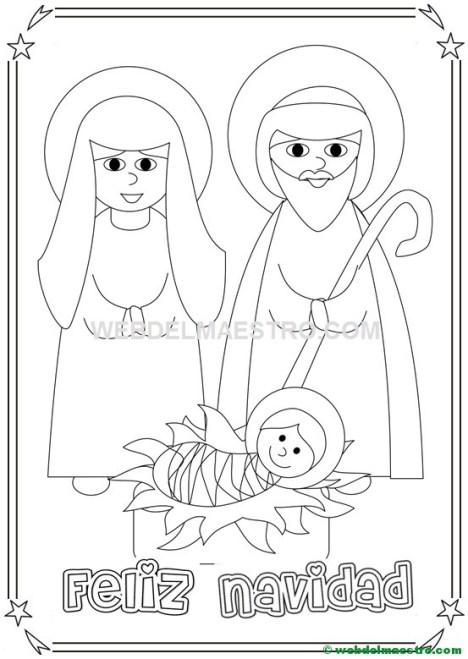 Dibujo de navidad para colorear