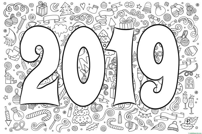 Dibujo para colorear de 2019-II
