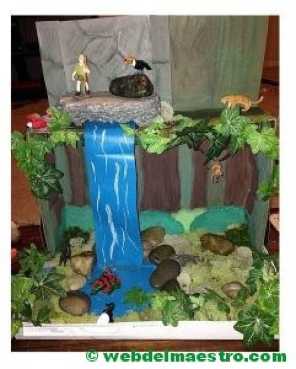 Diorama de la selva tropical