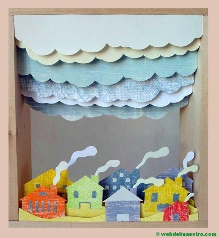 Diorama sobre los pueblos - las ciudades