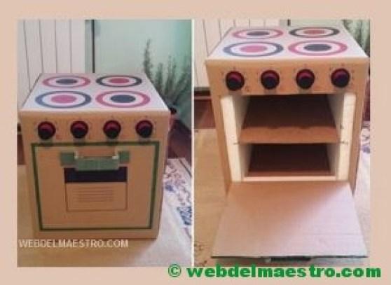 Vitrocerámica y horno de cartón