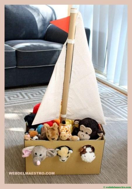 barco de cartón