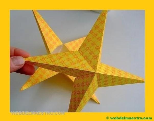 como hacer estrellas de papel en 3D
