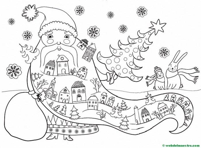 dibujo para colorear de Papá Noel