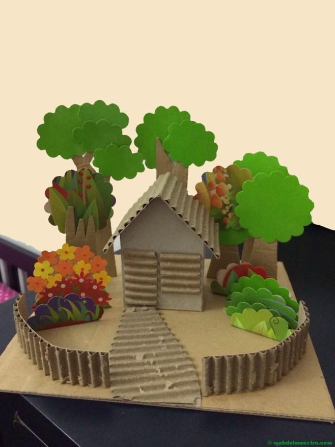 diorama de una vivienda