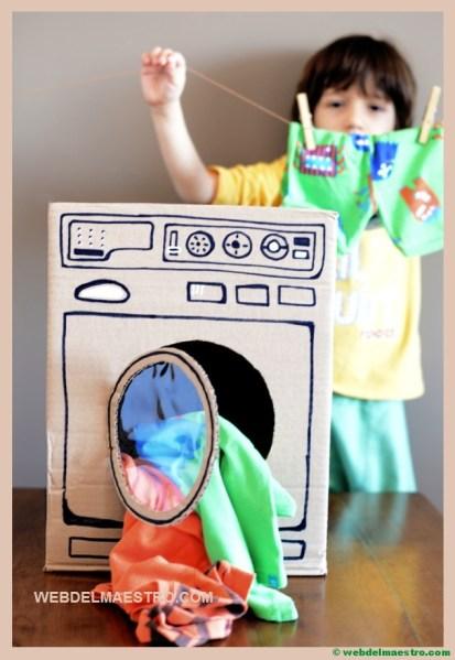 lavadora de carton