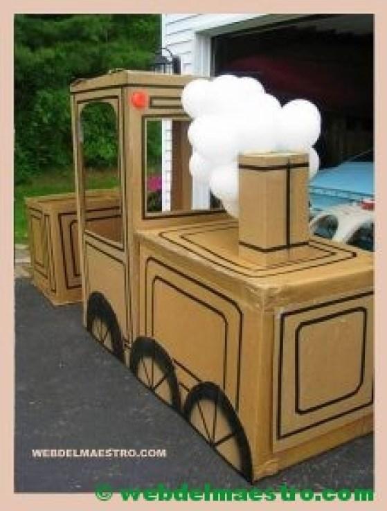 locomotora de cartón