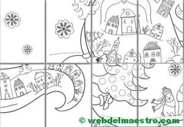 póster para colorear de Santa Claus