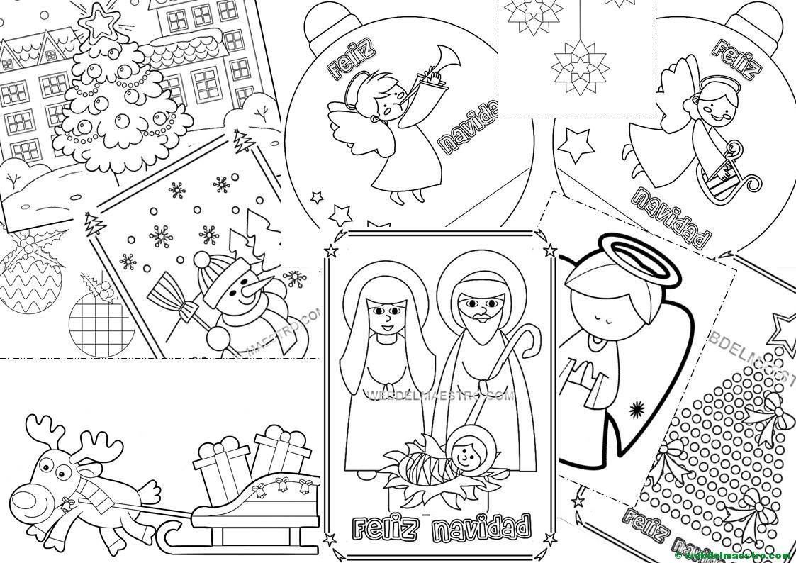 Postales Y Dibujos Navideños Para Imprimir Y Colorear Web Del Maestro