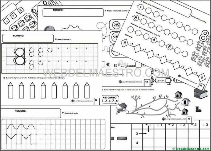 Fichas infantil 5 años para imprimir- Octava serie-