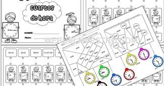 Fichas para aprender las horas en Primaria
