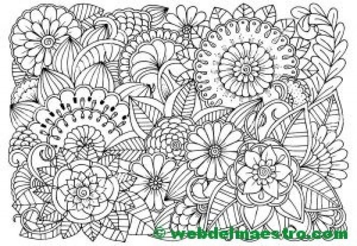 Dibujo de flores para colorear 6