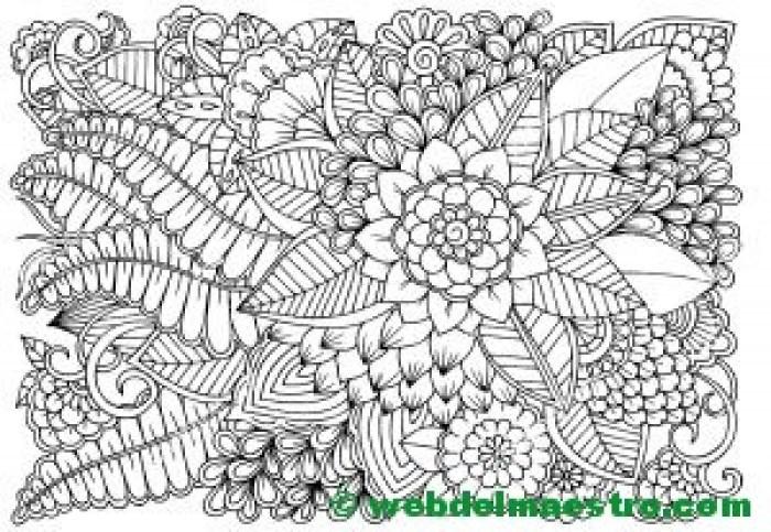 Dibujo de flores para colorear 7