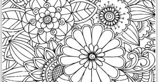 Dibujo de flores para colorear