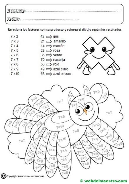 Fichas multiplicaciones-