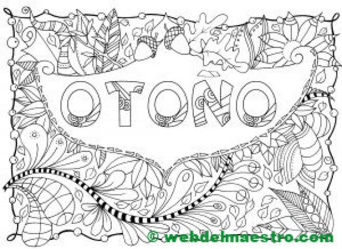 dibujo de otoño para colorear-I