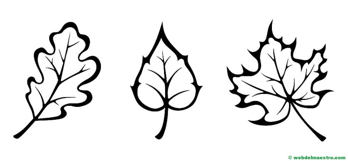 hojas de otoño para imprimir-