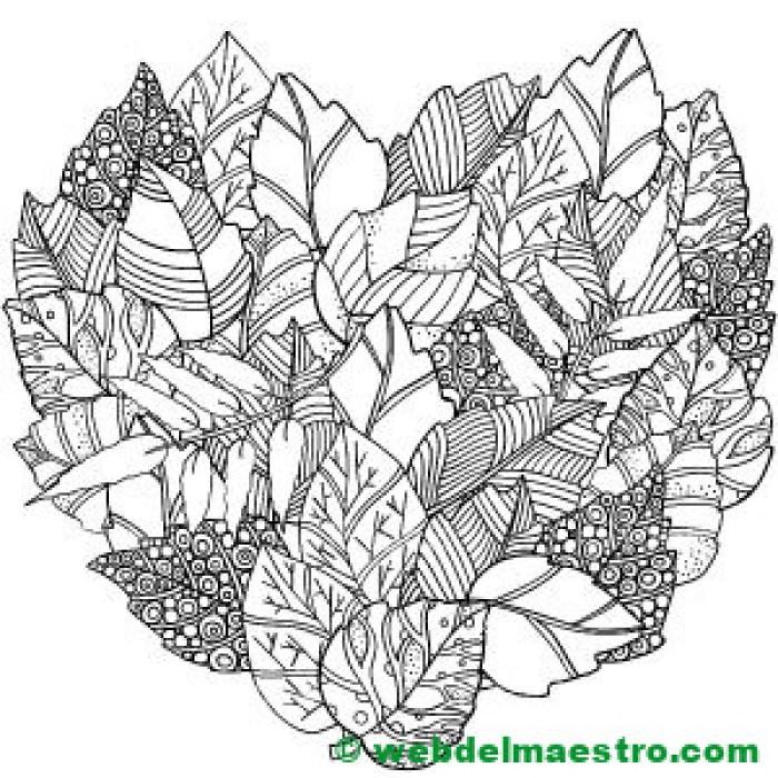 hojas otoño para colorear- II