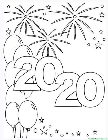 2. Colorear dibujo de 2020