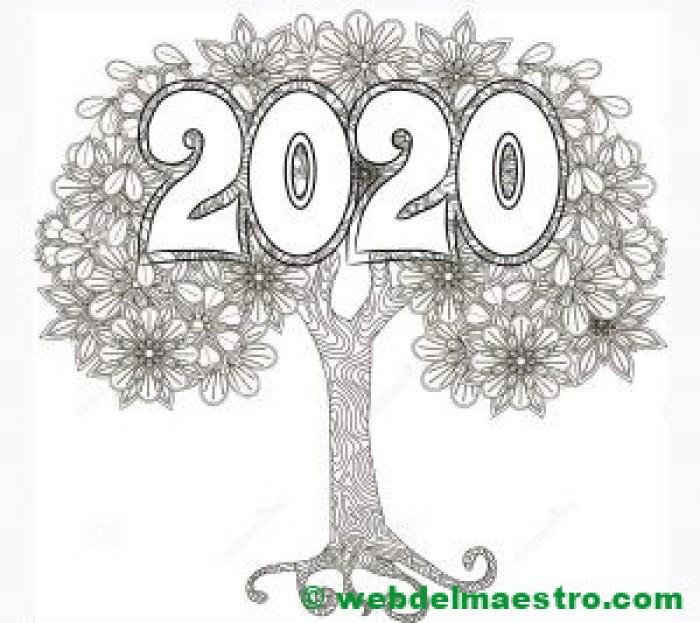 22. Dibujo de 2020 en árbol