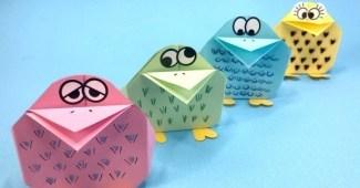 Pollitos de papel - Cómo hacer un pollito de papel