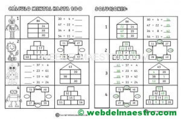 Ficha nº 6 de calculo mental