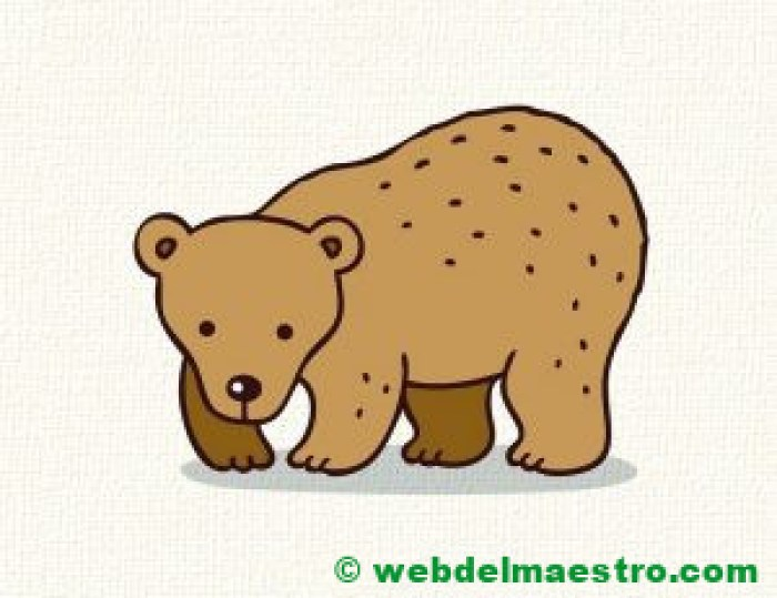 Dibujo de oso para niños