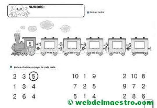 Fichas Infantil 5 años -Serie 10- I-